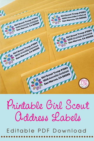 Printable Girl Scout Address Labels