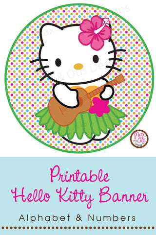 Hello Kitty Printable Alphabet Banner