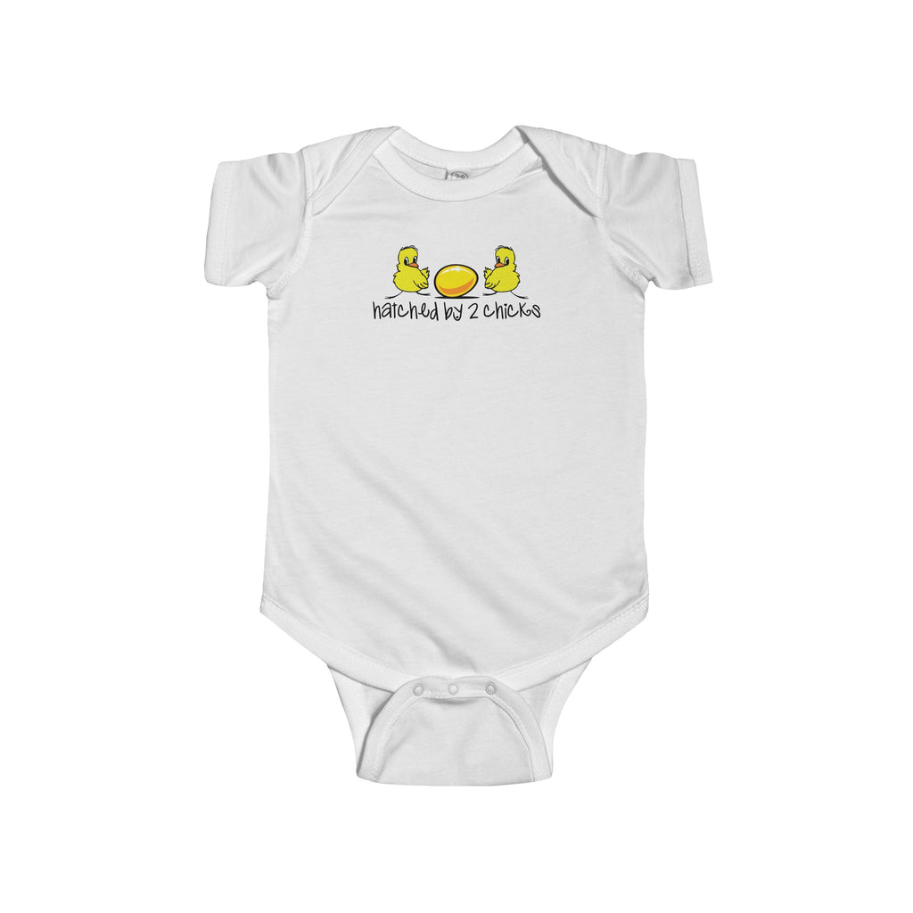 Hatched by Two Chicks - Infant Bodysuit - Max & Otis Designs