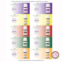 Printable Young Living Essential Oil Sample Folders (Editable PDF) - Max & Otis Designs