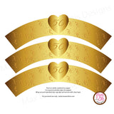 Printable Cupcake Wrappers - 50th Wedding Anniversary (Heart) - Max & Otis Designs