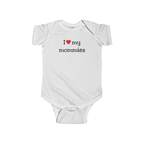 I heart my Mommies - Infant Bodysuit - Max & Otis Designs