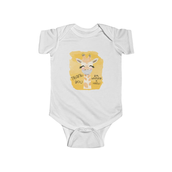 Giraffe Thank You for Wearing a Mask - Infant Fine Jersey Bodysuit