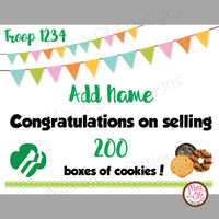 Girl Scout Printable Cookie Award Certificate (editable PDF) - Max & Otis Designs