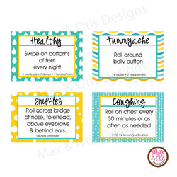 picture about Printable Essential Oil Labels referred to as Printable 1/2\