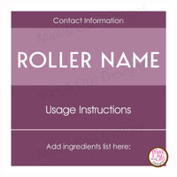 "Printable 2"" Stickers & Labels - 10 mL Essential Oil Roller Labels (Editable PDF)"
