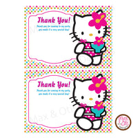 Printable Thank You Card - Hello Kitty (editable PDF) - Max & Otis Designs