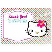 Printable Thank You Card - Hello Kitty Face  (editable PDF) - Max & Otis Designs