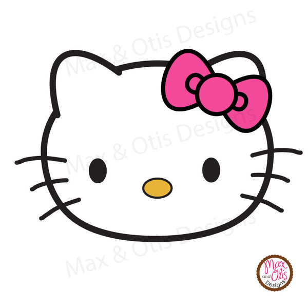 Hello Kitty Face Printable Sign Banner - Max & Otis Designs