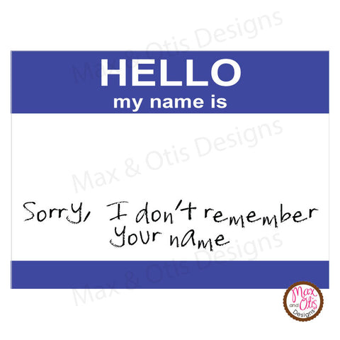 Printable Stickers & Labels - Hello My Name Is (Editable PDF)