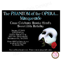 Phantom of the Opera - Custom Invitation printable - Max & Otis Designs