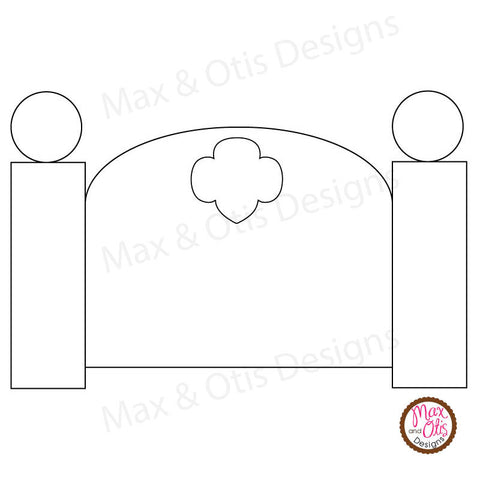 Girl Scout Printable Headboard for Sleepovers
