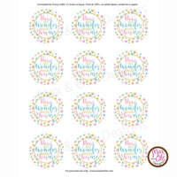 "Printable 2"" Tags & Labels - Baby Gender Reveal Party - Max & Otis Designs"