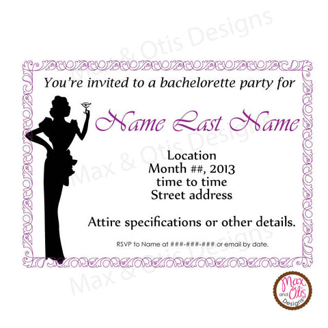 Bridal Shower Invitation (editable PDF) - Max & Otis Designs