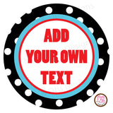 "Printable 2"" Tags & Labels - Black Polka Dots (Editable PDF) - Max & Otis Designs"