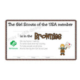Girl Scout Brownie Printable Membership Cards (editable PDF) - Max & Otis Designs