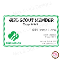 Girl Scout Printable Camp Keep in Touch Cards (editable PDF) - Max & Otis Designs