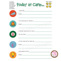 Girl Scout Printable Camp Reflection Sheets - Max & Otis Designs