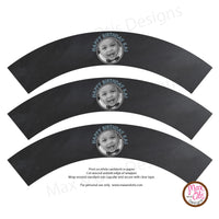 Printable Cupcake Wrappers - Photo Wrapper Chalkboard - Max & Otis Designs
