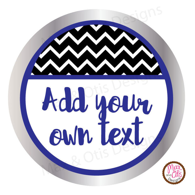"Printable 2"" Tags & Labels - Chevron All-Occasion (Editable PDF)"