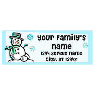 Printable Address Labels - Snowman