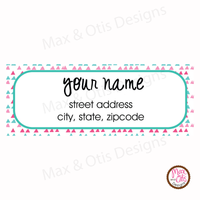 Printable Address Labels - Colorful Pinks - Max & Otis Designs