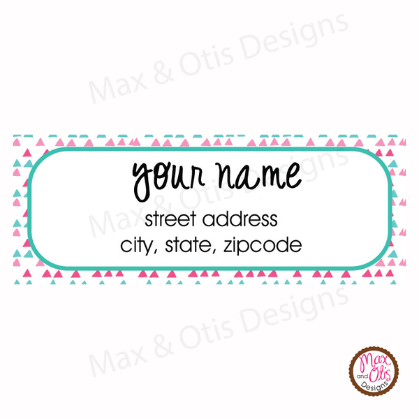 Printable Address Labels - Colorful Pinks