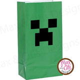Minecraft Creeper Balloon Stickers - Max & Otis Designs