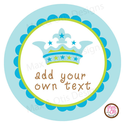 "Printable 2"" Tags & Labels - Crown (Editable PDF) - Max & Otis Designs"