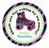 "Printable 2"" Tags & Labels - Thank You Skate Party (Editable PDF)"