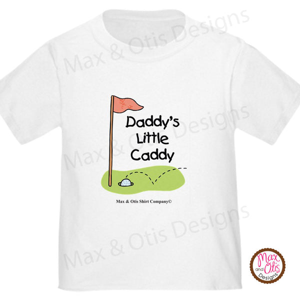 Printable Iron-On Transfer - Daddy's Little Caddy (Editable PDF) - Max & Otis Designs