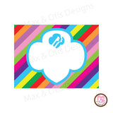 Girl Scout Printable Rectangle Tags - Daisy Garden Journey (editable PDF) - Max & Otis Designs