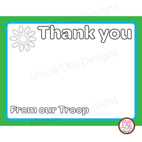 Girl Scout Daisy Thank You Card Printable - Max & Otis Designs