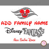 Disney Fantasy Cruise Printable Door Sign Magnet  - Editable PDF - Max & Otis Designs
