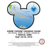 Printable Iron-On Transfer - Disney Caribbean Cruise (Editable PDF) - Max & Otis Designs