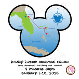 Printable Iron-On Transfer - Disney Dream Bahamas Cruise (Editable PDF) - Max & Otis Designs