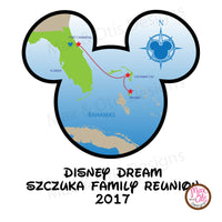 Printable Iron-On Transfer - Disney Dream Bahamas Cruise (Editable PDF)