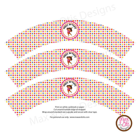 Printable Cupcake Wrappers - Dora the Explorer Birthday