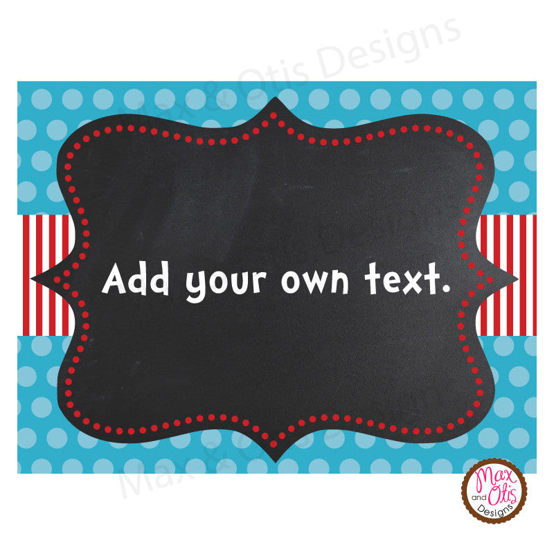Printable Cards & Labels - Dr. Seuss (Editable PDF) - Max & Otis Designs