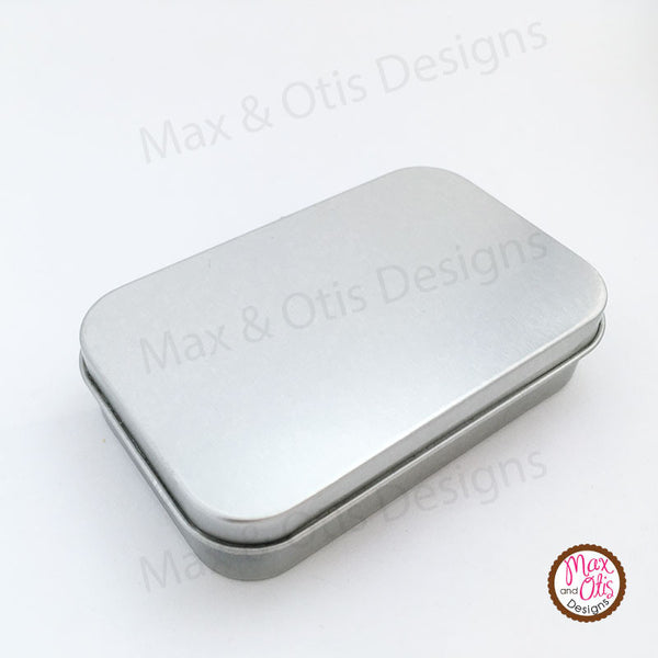 Metal Hinged Tins - Blank, Altoids Tin size - Max & Otis Designs