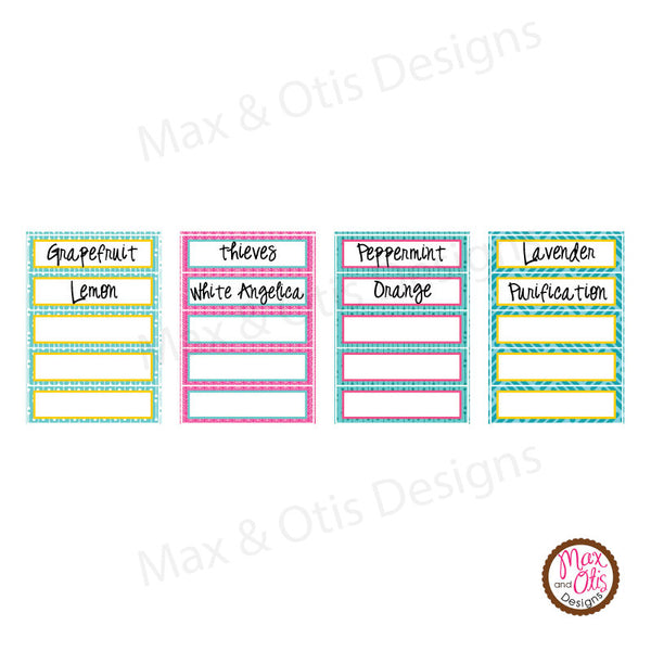picture relating to Printable Essential Oil Labels identified as Printable 1/2\