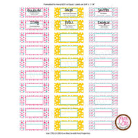 "Printable 3/4"" Stickers & Labels - Essential Oil 3 mL Roller Labels (Editable PDF)"