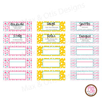 "Printable 3/4"" Stickers & Labels - Essential Oil 3 mL Roller Labels (Editable PDF) - Max & Otis Designs"