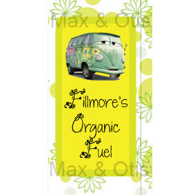 Printable Juice Box Wrappers - Cars Fillmore's Organic Fuel