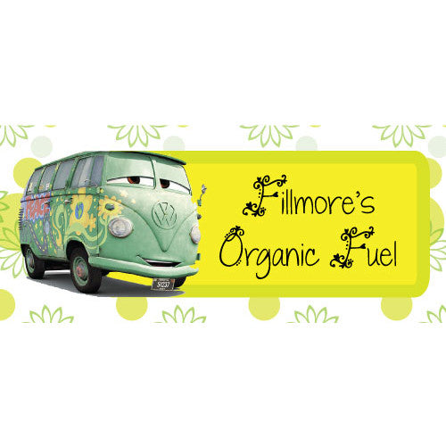 Printable Water Bottle Wrappers - Cars Fillmore's Organic Fuel - Max & Otis Designs