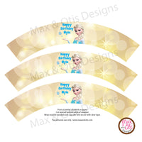 Printable Cupcake Wrappers - Frozen (Elsa) - Editable PDF - Max & Otis Designs