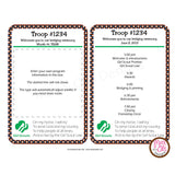 Girl Scout Brownie Bridging Program (editable PDF) - Max & Otis Designs