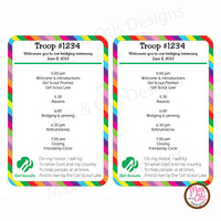 Girl Scout Bridging Program (editable PDF) - Max & Otis Designs