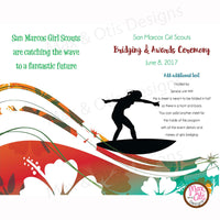 Girl Scout Bridging Program - Surfing Theme - Max & Otis Designs