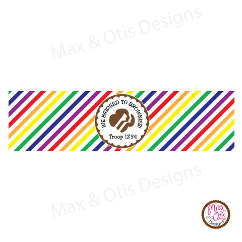 Girl Scout Brownie Bridging Water Bottle Label (editable PDF) - Max & Otis Designs